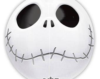 "Jack Skellington Balloon 16"" Orbz Nightmare Before Christmas Halloween Skeleton Skull Party Decoration Supplies Photo Prop"