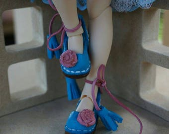 Blythe shoes. Blythe sandals from natural leather. Pure neemo body. 1:6 doll hanmade
