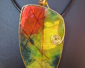 """""""Ode to the Earth"""", polymer clay necklace collection."""