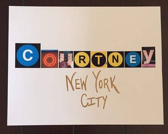 New york gift etsy new york gift new york name sign nyc personalized moving to ny negle Gallery