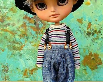 Blythe boy vintage style clothing (70's)