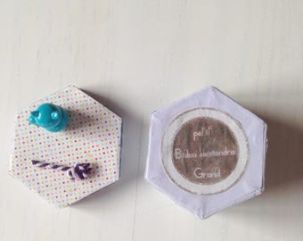 Teeth washi paper box