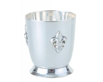 "Bourbon Can ""Lily"" silver plated"