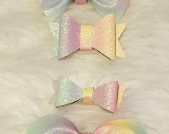 Rainbow Felt Bows
