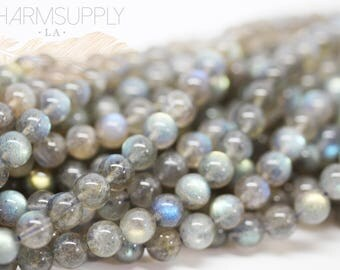Natural Labradorite 6-6.5mm round beads, FULL STRAND