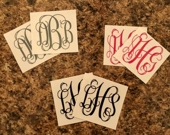 Monogram Decal (Set of 2)