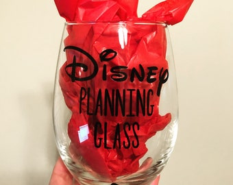 Disney Planning Stemless Wine Glass