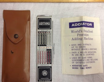 Vintage Arithma Addiator made in Germany