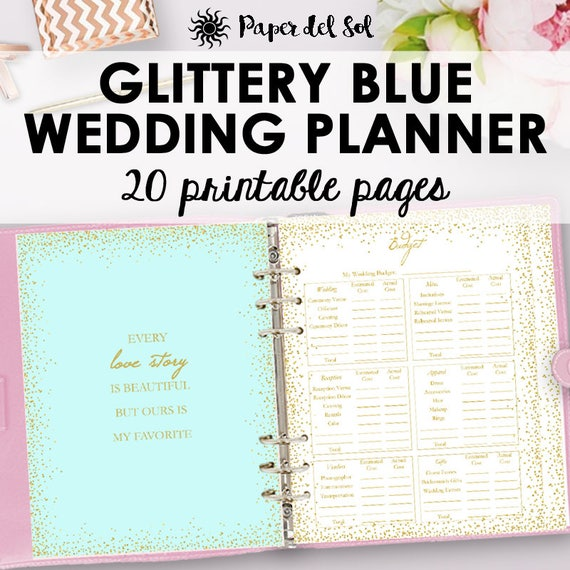 Wedding Planner PDF Printable Wedding Planner Printable