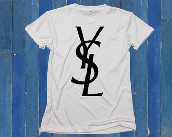 YSL t-shirt  white tee T-SHIRT Fashion tee Soft Cotton