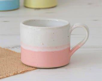 Handmade mug, coffee mug, mug, mugs, ceramic mug, pottery mug, pink mug, tea mug, pottery, handmade gift, housewarming gift, ceramic, mug