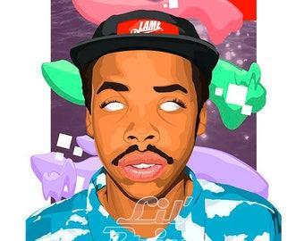Earl Sweatshirt original canvas /art work, pop-art/hip-hop *watermark will be removed