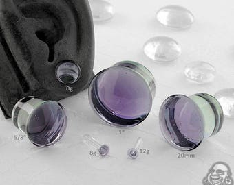 "Single Flare Lavender Dome Plugs 12g, 10g, 8g, 6g, 4g, 2g, 1g, 0g, 9mm, 10mm, 7/16"", 12mm, 13mm, 9/16"", 5/8"", 18mm, 20mm, 7/8"", 1"""