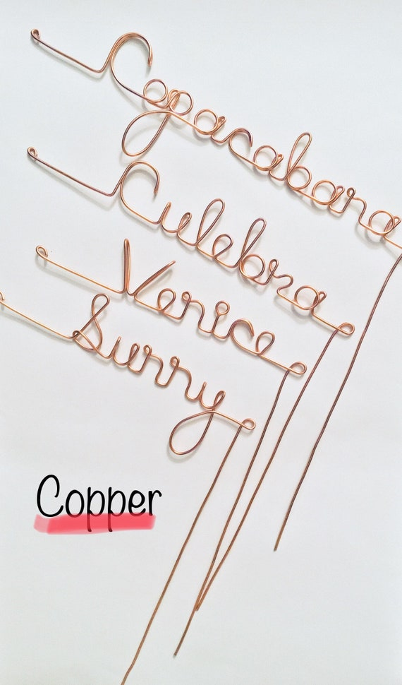 Wedding table numbers wire table numbers wedding numbers like this item greentooth Gallery