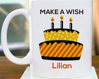 Make A Wish Personalized Mug For Beautiful And Memorable Birthday Gift