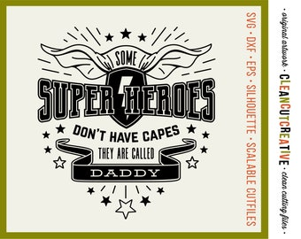 SVG Daddy svg Fathers Day svg Superhero svg DIY Personalize Name HTV Shirt svg Cape Papa Grandpa svg dxf png - Silhouette & Cricut clean cut
