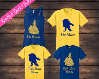 Beauty and Beast Family Shirts | Matching Family Shirts | Disney Shirts | Custom Disney Shirts | Beauty Beast Shirts | Disney Family Shirts
