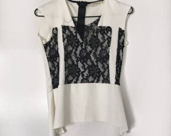 White Lace Blouse (as new)