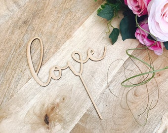 CLEARANCE! 1 ONLY Timber Rustic Love Cake Topper Baby Shower Wedding Cake Engagement Cake Topper Cake Decoration Cake Decorating Sugar Boo