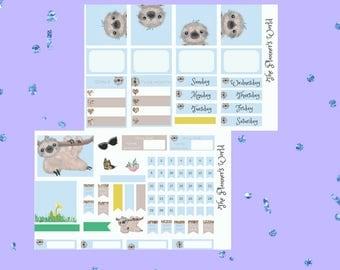 Just Hangin Around Mini Sticker Kit - sloth sticker kit - sloth tn sticker kit - Planner Kit - planner stickers - sloth - ML041