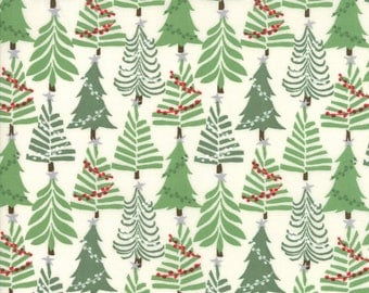 Moda Fabric - Merry Merry by Kate Spain - CHRISTMAS - Snow - 27275 12 - Choose the length of fabric