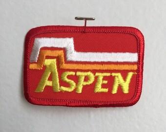 Vintage Aspen Ski Resort Patch Mint 70s 80s Colorado