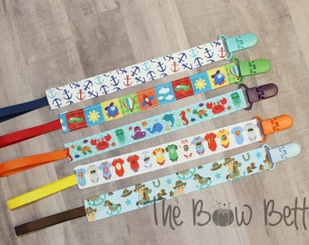Pacifier Clip, Boy Baby Shower, Baby Shower Gift, Paci Clip, Baby Accessories, Baby Boy Gift