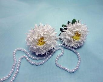 Hair bands, Aster hair bands, Foam aster, Flower decoration.Price per two asters