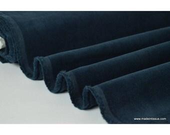 Navy .x1m cotton corduroy fabric