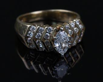 14k Yellow Gold 1 Carat Diamond Ring