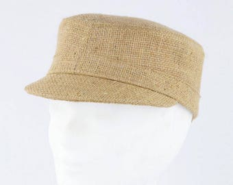 "Cap ""Café Macchiato"" made of coffee sack-plain (size: s)"