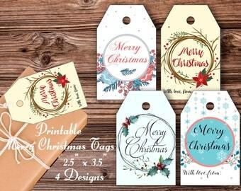 Merry Christmas Tags Printable Christmas Tags Holiday Tags Printable Christmas Tags Christmas tag Holiday gift tags Merry Christmas Tags