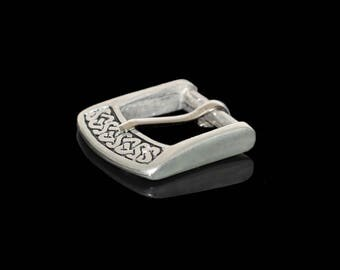 Pewter Belt Buckle with Celtic pattern