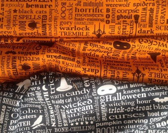 HALLOWEEN + Two for the price of one???  Black and White and Orange and Black!  RJR Fabrics Quilting