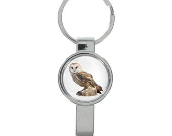Owl Image Cap Remover Keyring Boxed