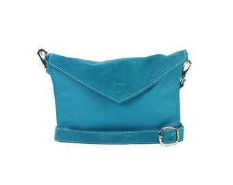 The Chelsea - Sky Blue Suede Crossbody