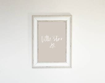 Nursery Print, Star Nursery, Little Star, Baby Prints, Kids Bedroom, Baby Bedroom, Grey Nursery, Quote Print, Wall Art, Grey Decor,
