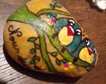 Pebble make manually birds couple