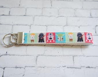 Star wars key Fob, wristlet keychain, Kids key FOB, Star Wars ribbons. Kids, Gift, teenager gift, birthday party gift,