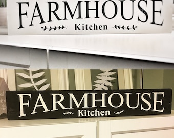 Farmhouse Kitchen  sign rustic shabby scandinavian