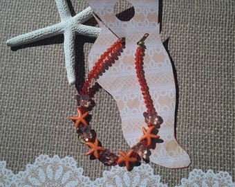 Starfish and Butterfly  Anklet