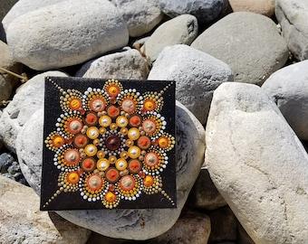 Fall Leaves Mandala Dot Art