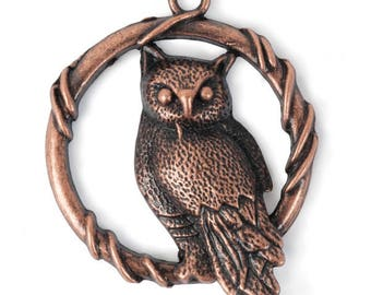 Perched Owl Pendant (STEAM332)