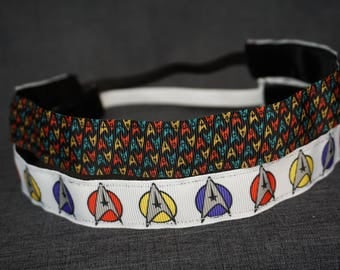 Star Trek Inspired Non-slip Headband - Mini Insignia, Large Insignia