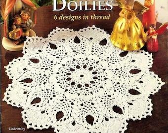 Vintage 'Heirloom Pineapple Doilies' crochet pattern magazine in pdf