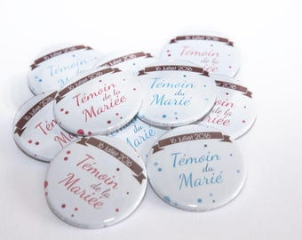 Set of 120 Magnet - 56mm personalized Save the Date, wedding guests or other gifts...