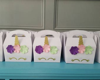 Set of 10 Unicorn boxes