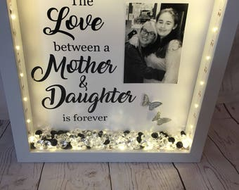 Mother and Daughter Frame with Lights & Photo