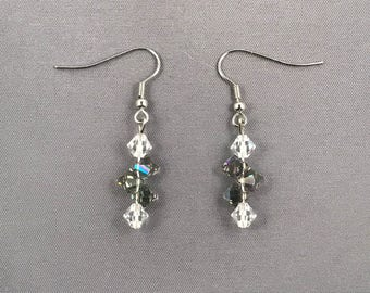 Clear and gray toned Swarovski crystal. 063