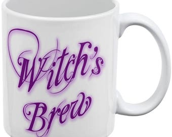 Witch's Brew Poison White All Over Coffee Mug